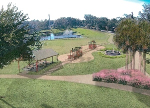Artist rendering of renovations at Coastline Park.