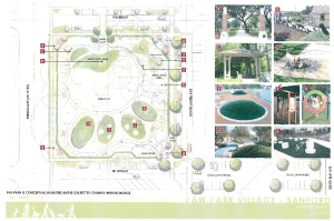 Rough draft of Paw Park master plan.
