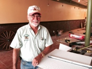 Bill Painter lends a hand in helping remodel the Colonial Room's new space. Painter owned the restaurant for 34 years before selling it to Michelle Simoneaux in 2012.