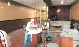 Inside the Colonial Room's new space at 105 E. 1st St.