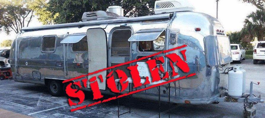 Airstream Food Truck Stolen