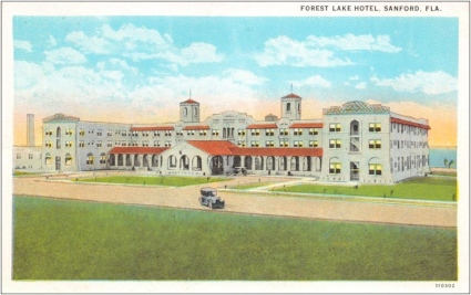 Click to enlarge. The Hotel Forrest Lake, viewed from 1st Street.