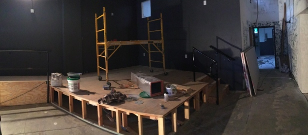 The new stage for The Alley.
