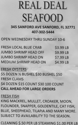 RealDealSeafood Prices