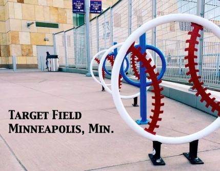 Baseball-racks-at-Target-Field Minneapolis