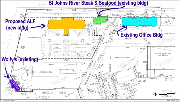 Site plan for proposed ALF on Marina Island.