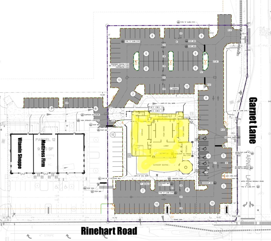 Site plan for Bahama Breeze.