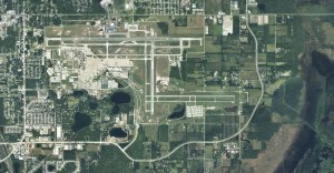 Click to enlarge. The Sanford airport has more than 500 acres of developable property, including about a 1 mile stretch along State Road 46. Credit: Sanford Airport Authority.